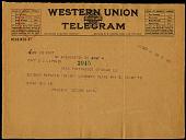 view Telegram to Benjamin Lipsner, September 4, 1918 digital asset number 1