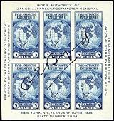 view 3c Byrd Antarctic Expedition II autographed souvenir sheet digital asset number 1