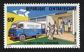 view 60fr Bangui Post Office and Van single digital asset number 1