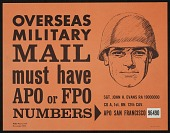 view Addressing overseas military mail poster digital asset number 1