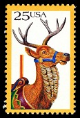 view 25c Carousel Deer single digital asset number 1