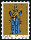 "view 2500 lire ""Mother of God in Prayer"" single digital asset number 1"