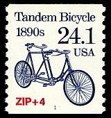 view 24.1c Tandem Bicycle coil single digital asset number 1