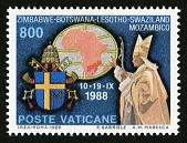 view 800 lire Papal Arms, Pope John Paul II and Map single digital asset number 1