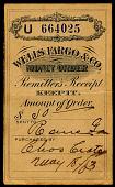 view Wells Fargo & Company money order receipt digital asset number 1