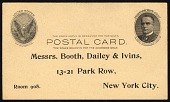 view 1c full face William McKinley domestic postal card digital asset number 1