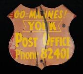 view Patriotic post office road sign digital asset number 1