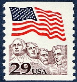 view 29c Flag over Mt. Rushmore single digital asset number 1