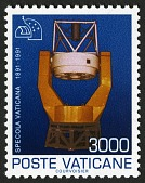 view 3000 lire Telescope at Vatican Observatory single digital asset number 1