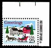 view 25c One-Horse Sleigh and Village single digital asset number 1