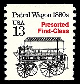 view 13c Presorted First-Class Patrol Wagon coil single digital asset number 1
