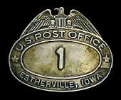 view City letter carrier cap badge, number 1 digital asset number 1