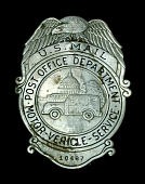 view MVS employee chest badge, number 10487 digital asset number 1