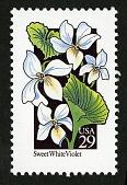 view 29c Sweet White Violet single digital asset number 1
