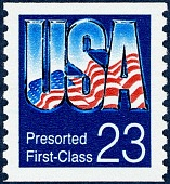 view Presorted First-Class (23c) USA Flag Reflection digital asset number 1