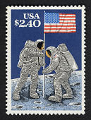 view $2.40 Raising of the Flag on the Lunar Surface, July 20, 1969 single digital asset number 1