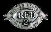 view RFD letter carrier cap badge, number 2 digital asset number 1