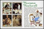 view 50c Norman Rockwell souvenir sheet digital asset number 1