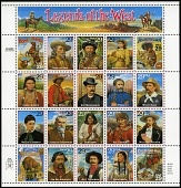 view 29c Legends of the West revised pane of twenty digital asset number 1