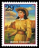 view 29c Annie Oakley mini sheet single digital asset number 1