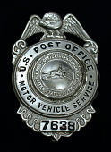 view MVS employee chest badge, number 7638 digital asset number 1