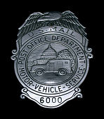 view MVS employee Medallion chest badge with Eagle Pediment, number 6000 digital asset number 1