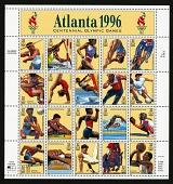 view 32c 1996 Summer Olympic Games pane of twenty digital asset number 1