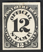 view 12c Post Office Department card plate proof digital asset number 1