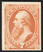 view 7c Edwin M. Stanton card plate proof digital asset number 1