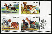 view 20c Dogs block of four digital asset number 1