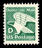 view D Rate (22c) Domestic Mail Eagle single digital asset number 1