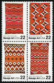 view 22c Navajo Art block of four digital asset number 1