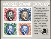 view World Stamp Expo 1989 Souvenir Sheet digital asset number 1