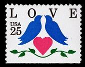 view 25c LOVE Birds & Heart single digital asset number 1