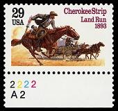 view 29c Cherokee Strip Land Run single digital asset number 1