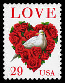 view 29c Love Dove in Rose Heart single digital asset number 1