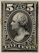 view 5c Proprietary general issue revenue stamp plate proof digital asset number 1