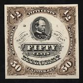 view 50c Beer revenue stamp proof single digital asset number 1