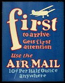 view Airmail poster advertising the ten-cent rate digital asset number 1