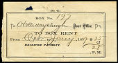 view Post office box rental receipt digital asset number 1