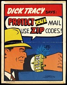 view ZIP code poster featuring Dick Tracy digital asset number 1