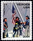 view 34c+11c Firemen Atop World Trade Center Rubble single digital asset number 1