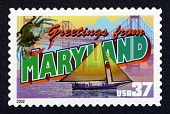 view 37c Greetings from Maryland single digital asset number 1