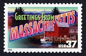 view 37c Greetings from Massachusetts single digital asset number 1