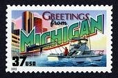 view 37c Greetings from Michigan single digital asset number 1
