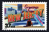 view 37c Greetings from New Jersey single digital asset number 1