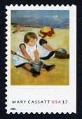 "view 37c Mary Cassatt ""Children Playing on the Beach"" single digital asset number 1"