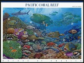 view 37c Pacific Coral Reef pane of ten digital asset number 1