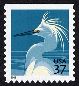 view 37c Snowy Egret single digital asset number 1