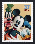 view 37c Goofy, Mickey Mouse, and Donald Duck single digital asset number 1